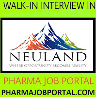 Neuland Laboratories Walk In for Multiple Positions  FRESHERS at 22  Sep