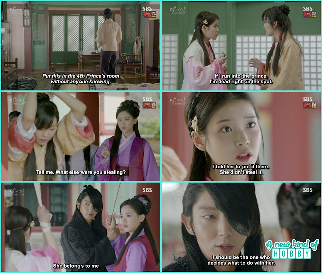 hae soo got a beating from yeon hwa and 4th prince interrupted - Moon Lovers: Scarlet Heart Ryeo - Episode 4 Review