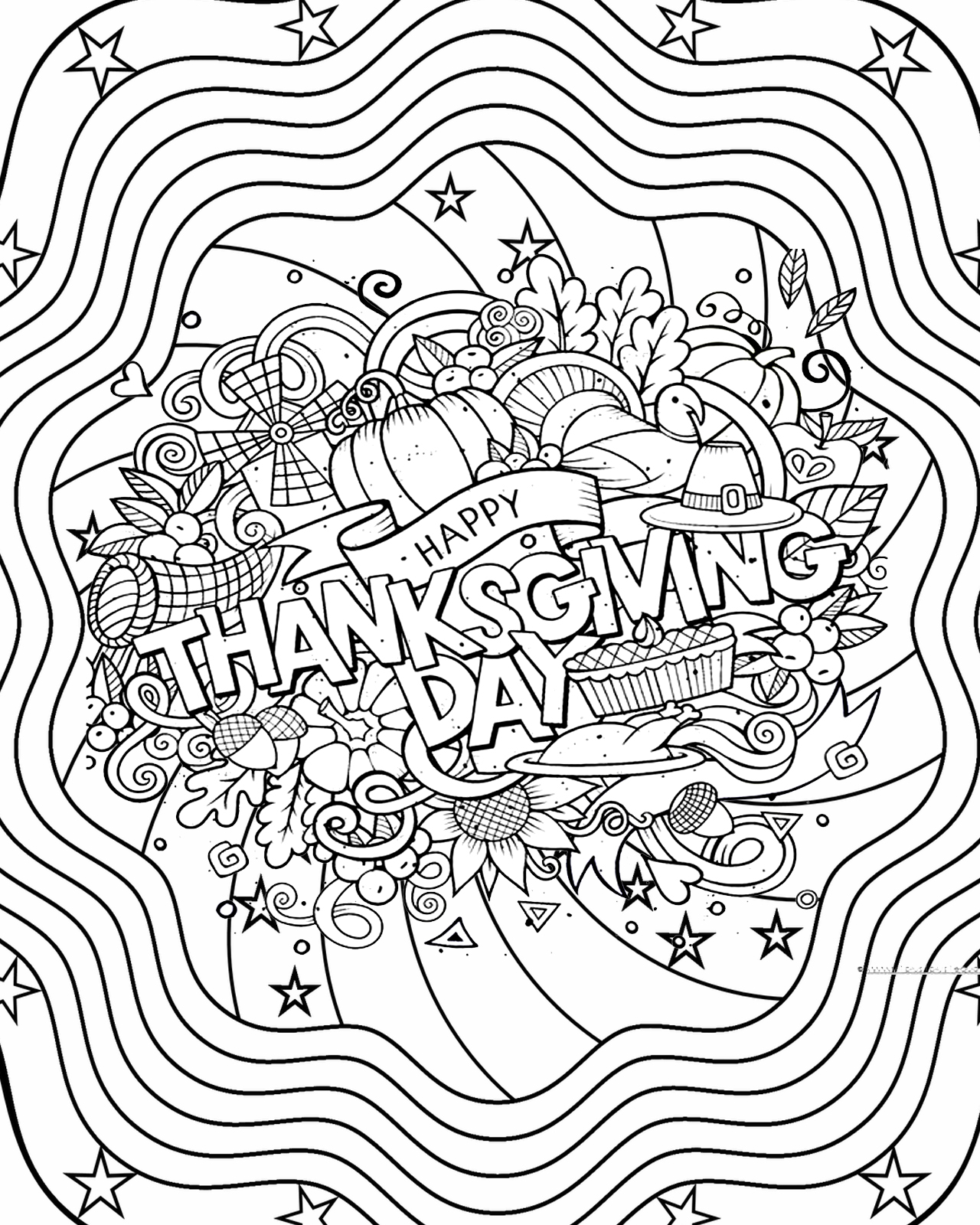 Thanksgiving Pages Mandala Coloring Pages