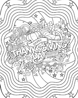 Mandala Thanksgiving day coloring pages