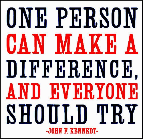 One Person Can Make A DIFFERENCE And Everyone Should TRY