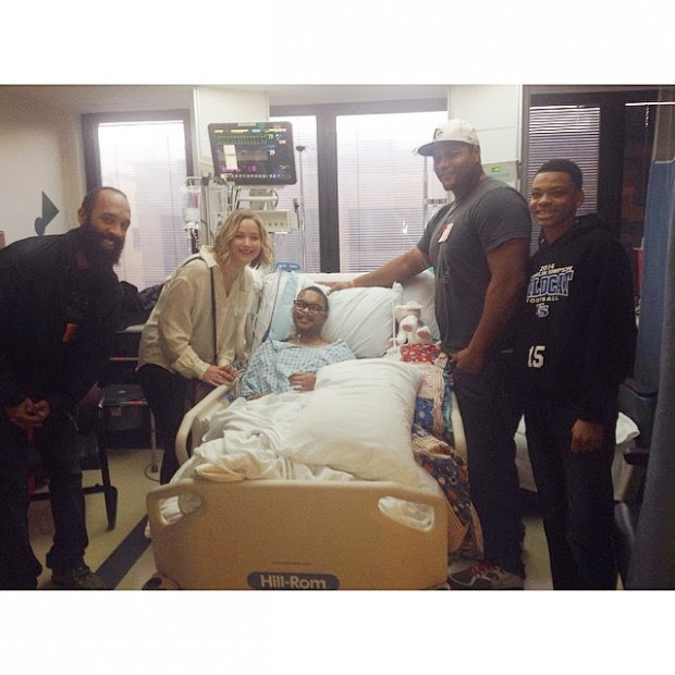 Jennifer Lawrence visited a children's Hospital