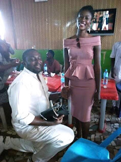 AND SHE SAID YES!!! Nigerian Rapper 'Loudspeeka' Proposes to His Long time Sweetheart
