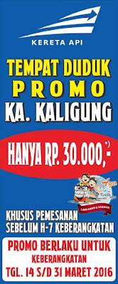 Tiket Promo KA Kaligung Tegal Semarang