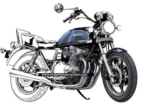 www custommotorcycleart com: Suzuki GS1100L commission