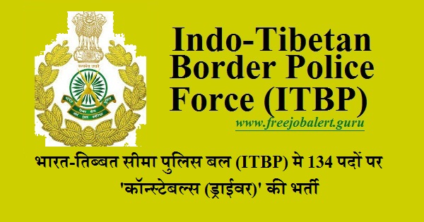 Indo-Tibetan Border Police Force, ITBP, Ministry of Home Affairs, Govt. of India, Force, Force Recruitment, 10th, Constable, Driver, Latest Jobs, itbp logo