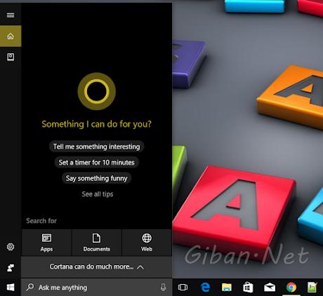 Berhasil Mengaktifkan Cortana di Windows 10