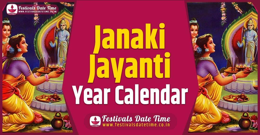 Janaki Jayanti Year Calendar, Janaki Jayanti Pooja Schedule