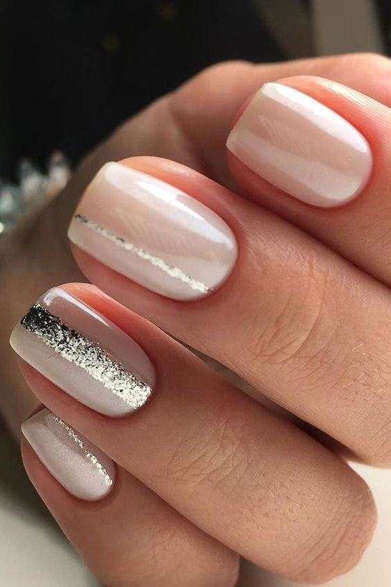 Brilliant Glitter Wedding Nails