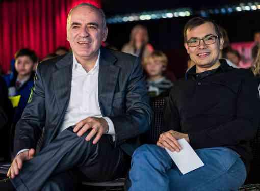 Garry Kasparov et Demis Hassabis, le directeur de DeepMind, une filiale de Google - Photo © Lennart Ootes