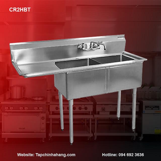 Bồn rửa 2 hố inox CR2HBT