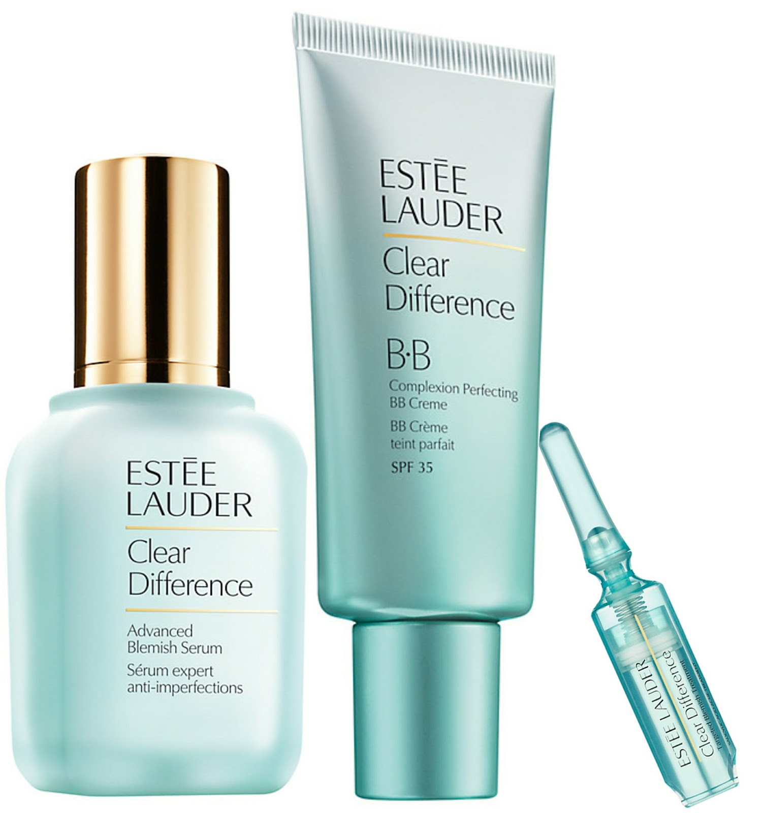 New Estée Lauder Clear Difference Serum, Blemish Treatment, BB Creme