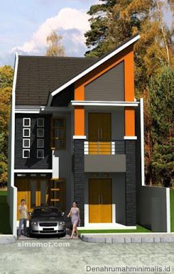 Desain Terbaru Rumah Minimalis 2 Lantai Type 45 Terupdate 2019 2