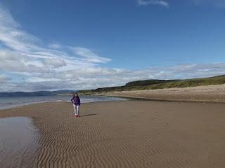 Blackwaterfoot és a homokos tengerpart