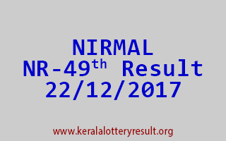 NIRMAL Lottery NR 49 Results 22-12-2017