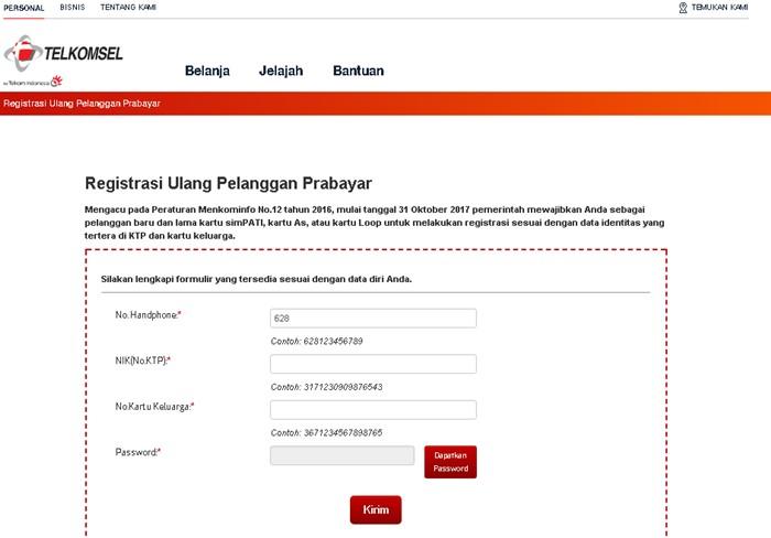 Registrasi Ulang Kartu Simpati-telkomsel.com