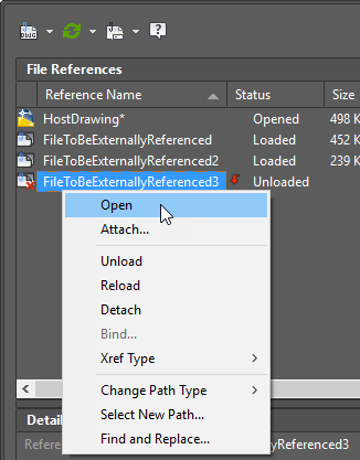 how to reload xref in autocad path change