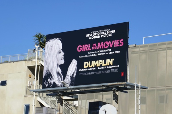 Dolly Parton Girl in the movies Dumplin FYC billboard