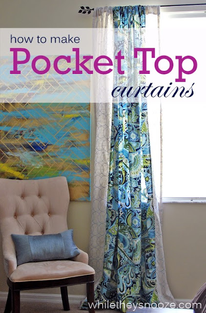 while they snooze how to make pocket top curtains. Black Bedroom Furniture Sets. Home Design Ideas