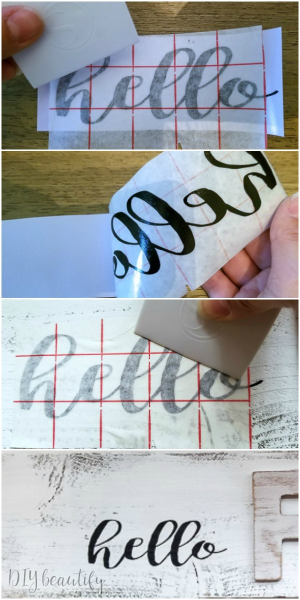 using transfer paper with vinyl