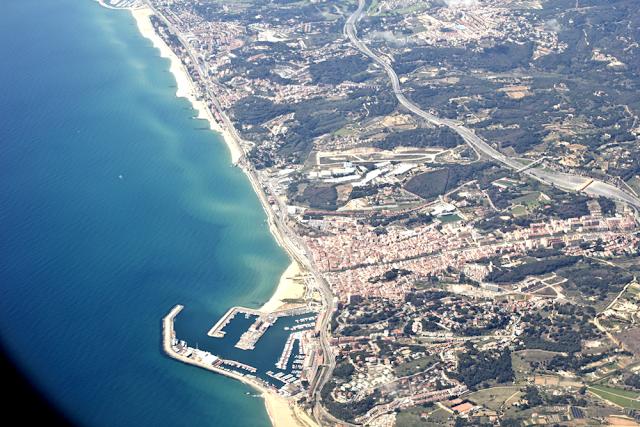 Mittelmeerküste von oben