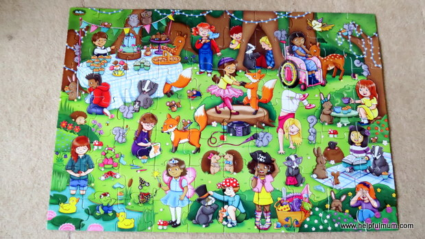 Completed woodland puzzle