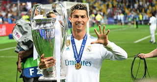 Cristiano Ronaldo celebration Champions League final 2018