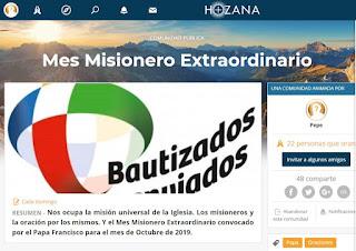 MesMisioneroExtraordinario, HOZANA, OMP, oración