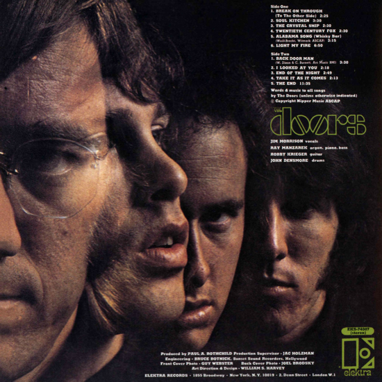 The Doors, first album 1967, back