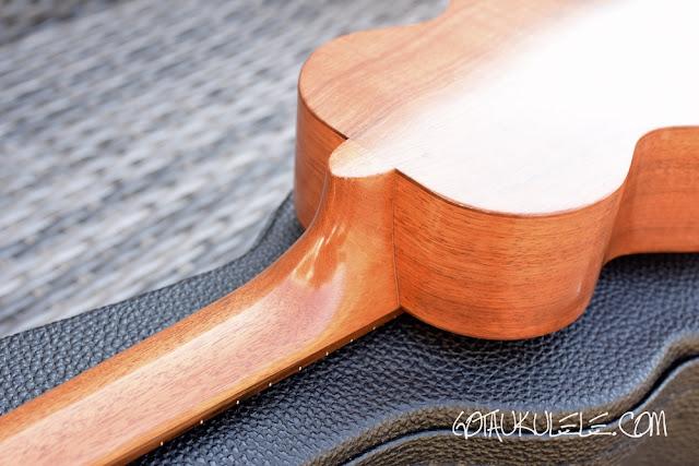 Kamaka HF-1 Standard Ukulele neck heel