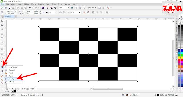 Cara Membuat Bendera Racing dengan Corel Draw X7