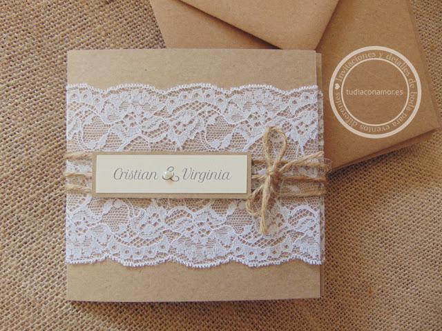 Invitaciones de boda hechas a medida por Tu día Con Amor