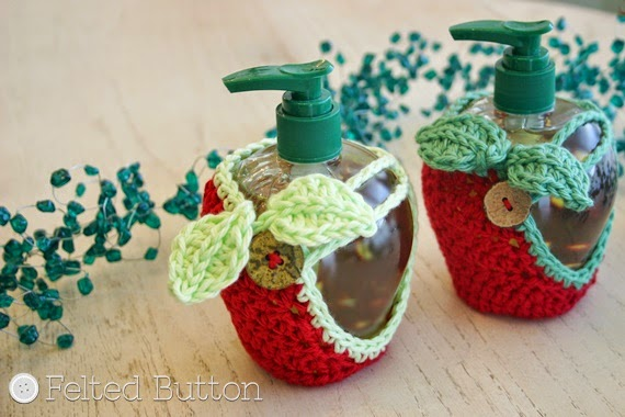 Cozies for Apple Soap Dispensers -- Perfect 2-in-1 gift for teachers and neighbors