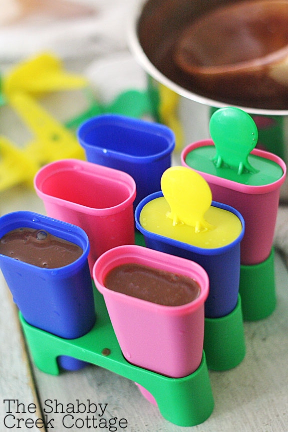 recipes, desserts, easy recipes, chocolate pudding pops, quick recipes, kids stuff