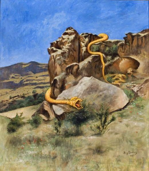 A Serpente - Hugo Simberg e seus simbolismos ~ O artista ansiava por solidão e paz