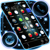 Blue Flame Theme APK