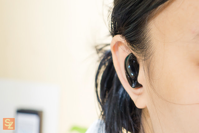 S530 Bluetooth Earbud on ear test