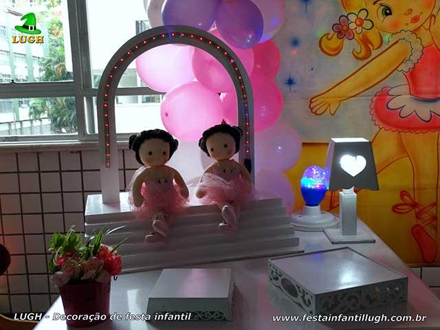 Mesa temática Bailarinas - decoração de aniversário