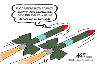 attacco Usa, siria, bombe intelligenti, missili tomhawk, vignetta, satira