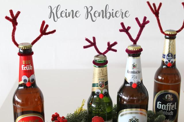 Last Minute Kerze in die Bierflasche DIY Adventskranz Kerle Renbiere Jules kleines Freudenhaus