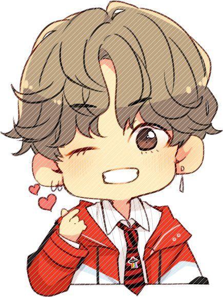 gambar kartun orang korea