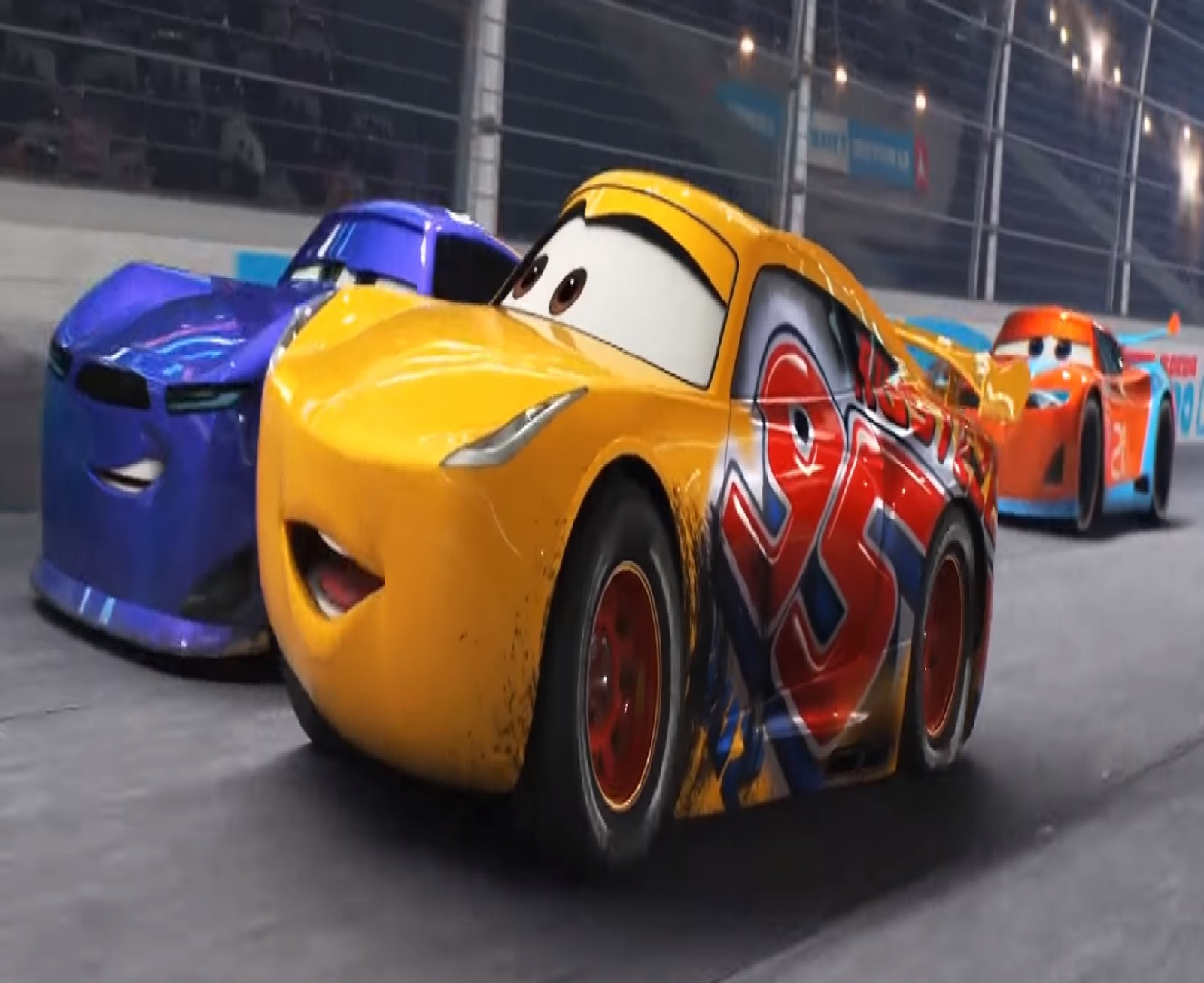 cars cruz pixar jackson ramirez storm film random florida yellow wins race purple disney against neko speed