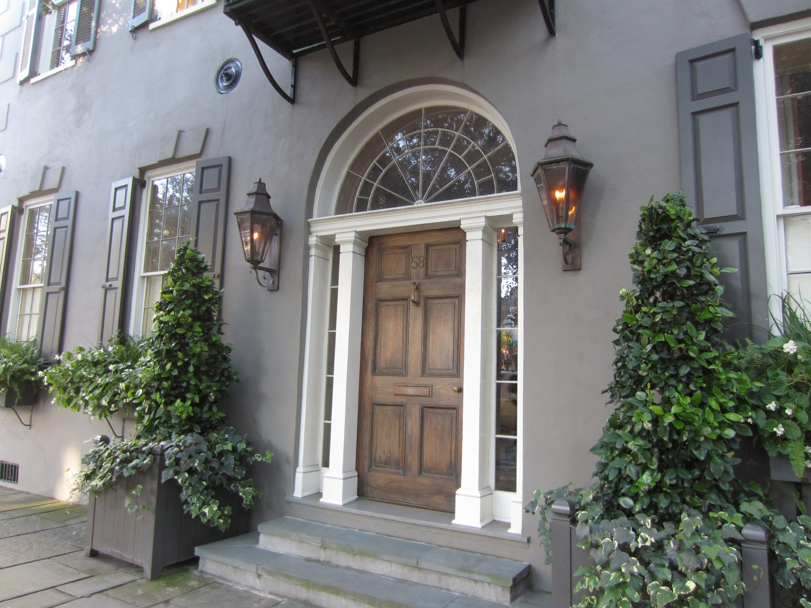 Charleston Homes with Gas Lanterns