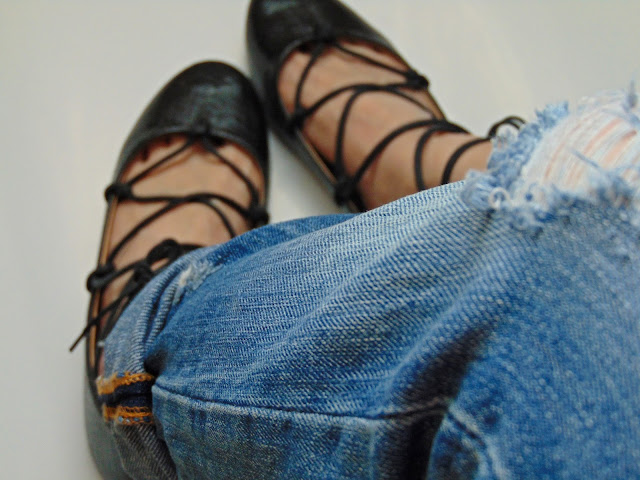 Baleriny Lace Up DIY