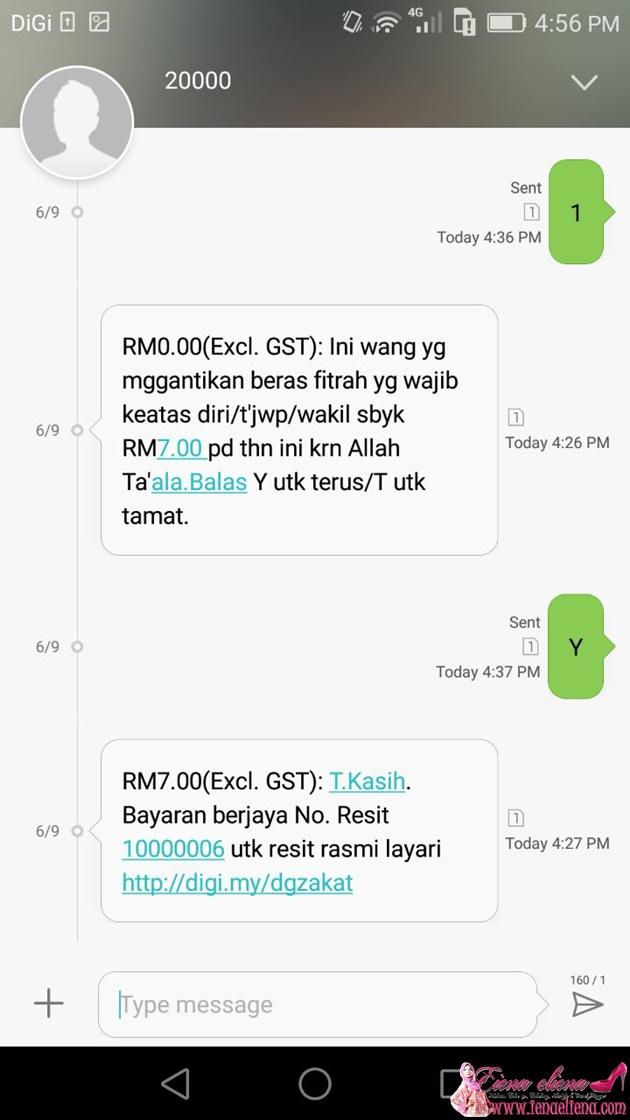 PEMBAYARAN ZAKAT FITRAH MELALUI SMS