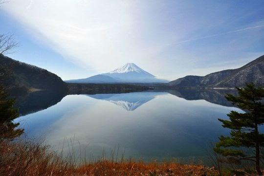 Danau Motosu dan Gunung Fuji