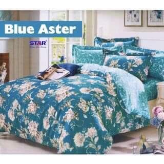 sprei motif Blue Aster CVC Star