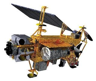 caída de un satelite