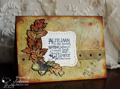 Our Daily Bread designs Autumn Blessings, ODBD Customer Card of the Day by Sabrina Friel aka Cook22
