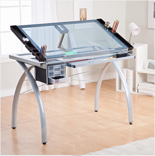 Simple Drafting Table With Light Image